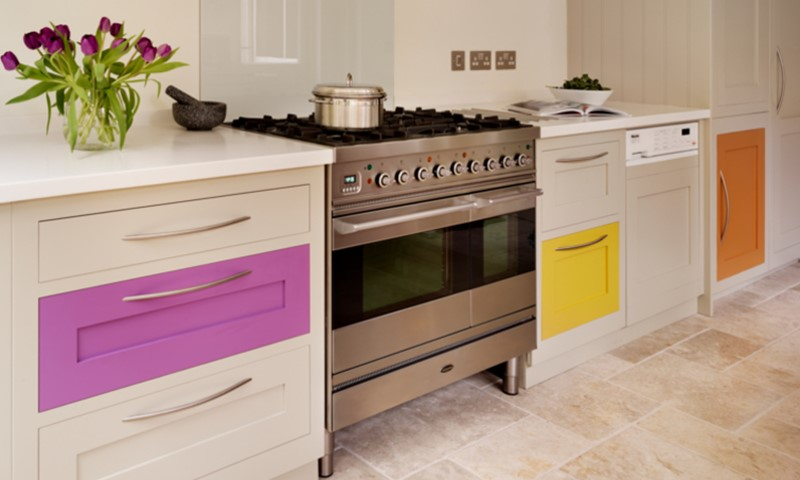 Harvey Jones colourful kitchen
