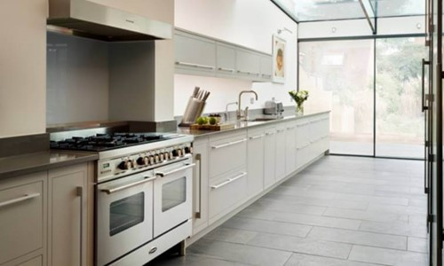 Harvey Jones Linear kitchen with galley design