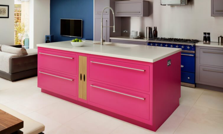 Using Bright Colour In The Kitchen | Harvey Jones