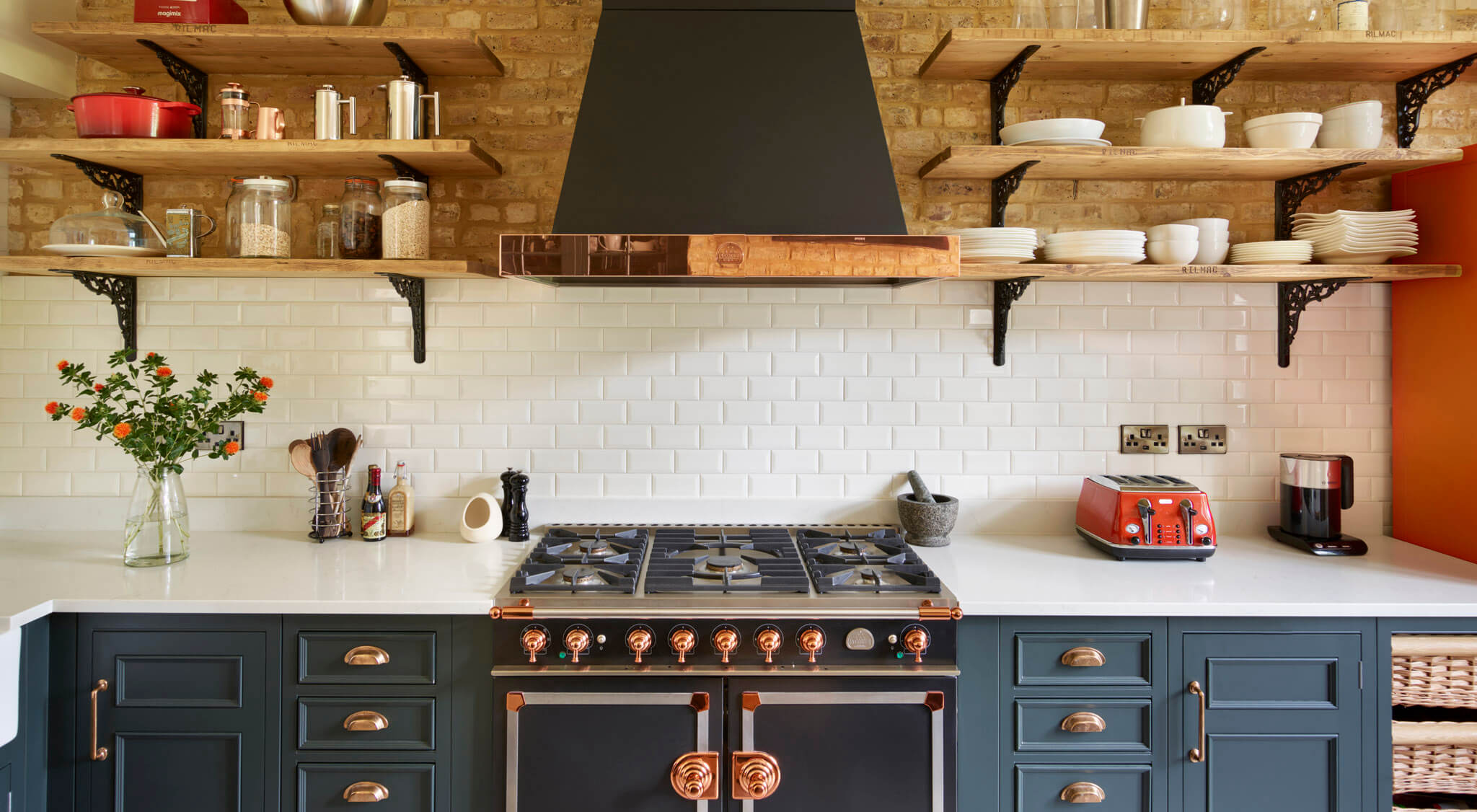 Original Kitchen With Copper Accents