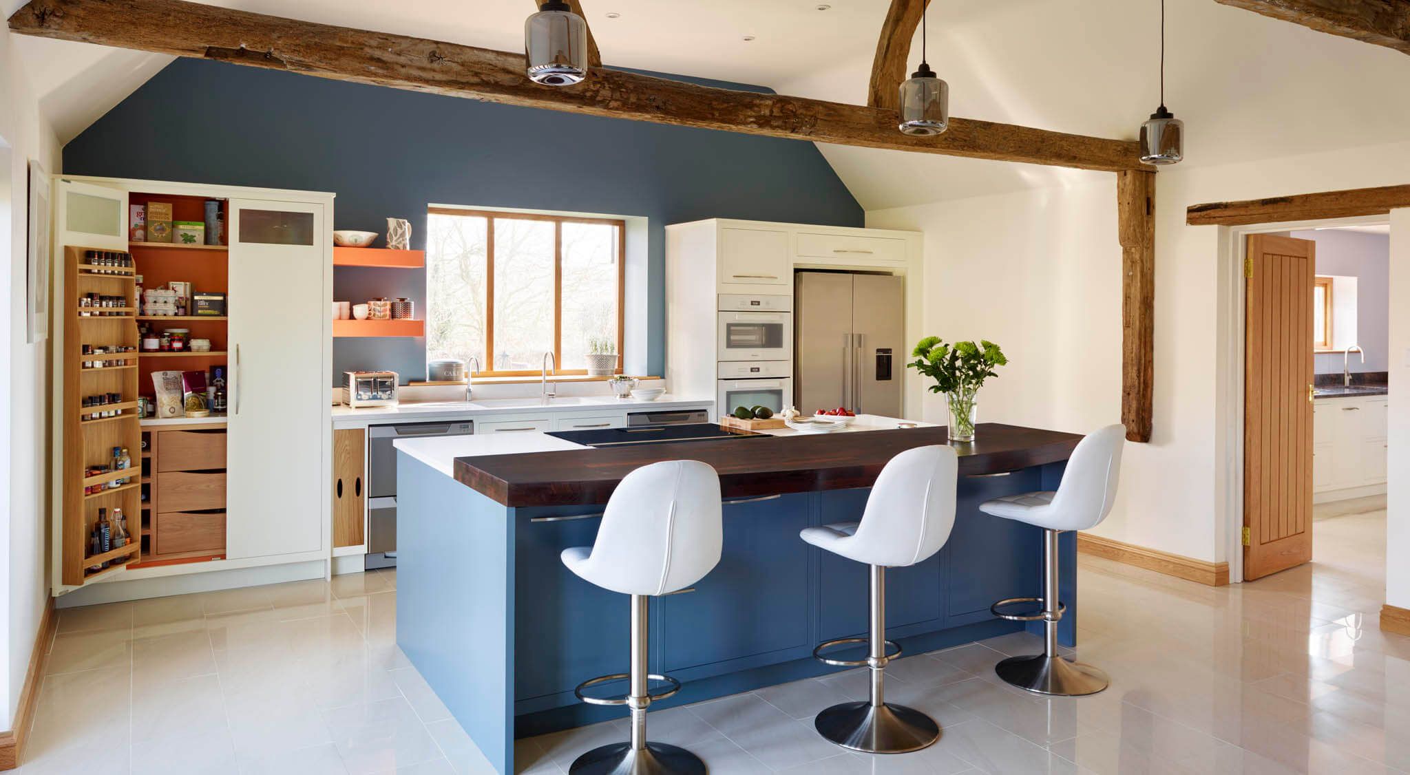 Linear Kitchen In A Barn Conversion