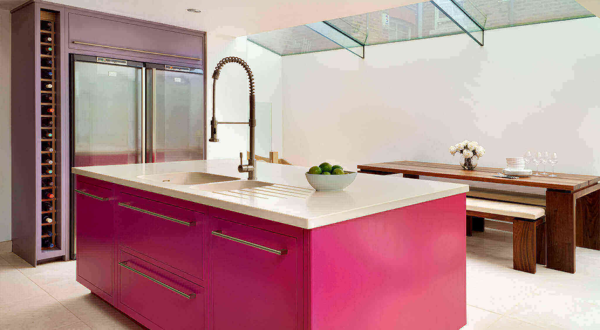 Hot Pink Linear Kitchen