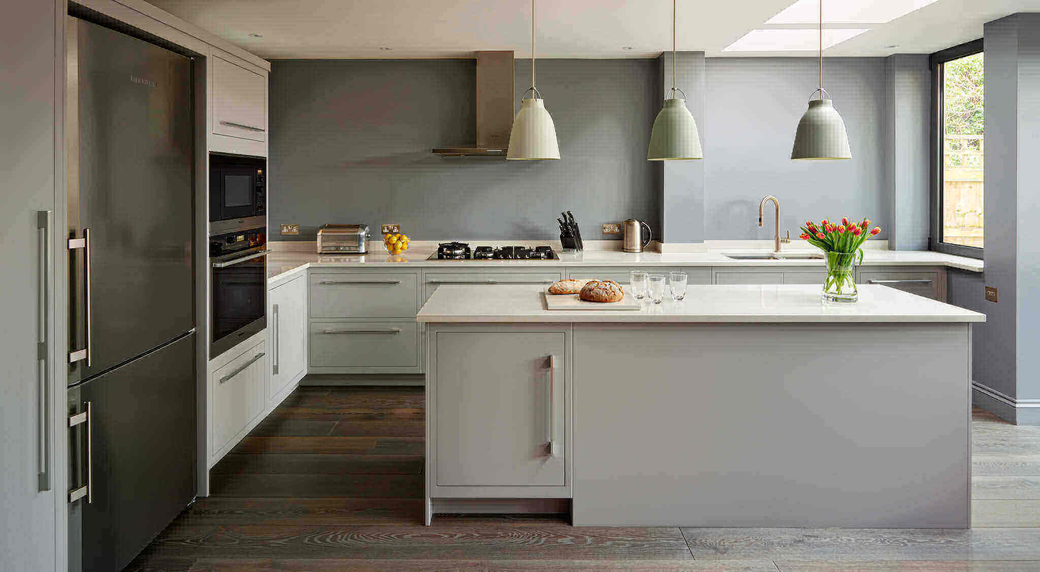 Linear Kitchen In Shades Of Grey