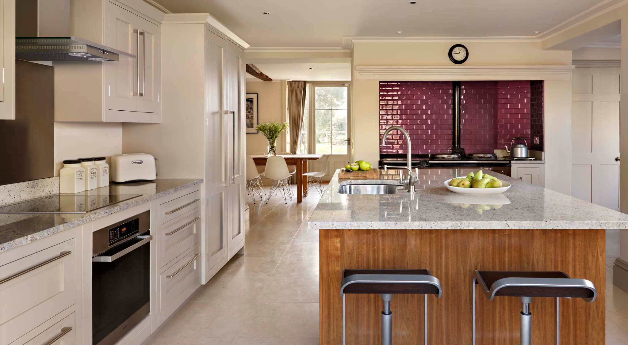 Shaker Kitchen With Walnut Island