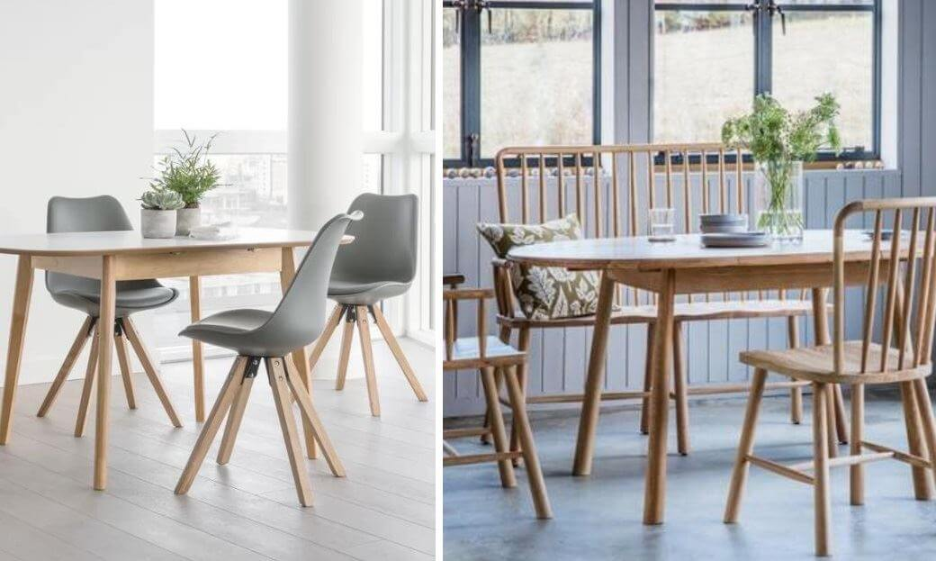 Round Off This Nordic Layout With Neutral Coloured Accessories And Fresh Greenery To Create A Truly Inviting Space For Guests COMPACT DINING ROOMS